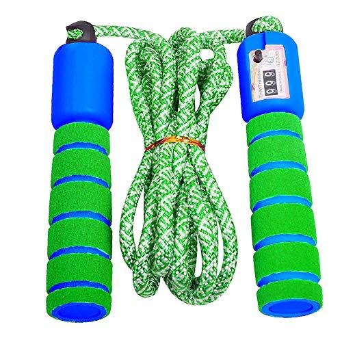 Dsaren Jump Rope Springseil Verstellbar mit Zähler Anti-Rutsch Griffen Speed Rope Kinder für Frauen, Männer, Jungen, Mädchen (Grün)