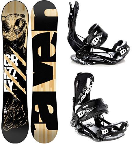 Raven Snowboard Set: Snowboard Grizzly + Bindung Fastec FT270 (154cm + FT270 Black L)