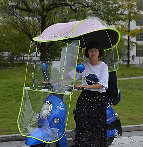 JXH Motorrad Vordach Markise Universal Motorroller Regenschirm Mobilität Sonnenschutz Regenschutz Wasserdicht,Verstellbar Offenes Fenster,F