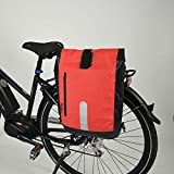 FISCHER Gepäckträgertasche, mit Rucksackfunktion, wasserdichtes Material, Komfortable Handhabung