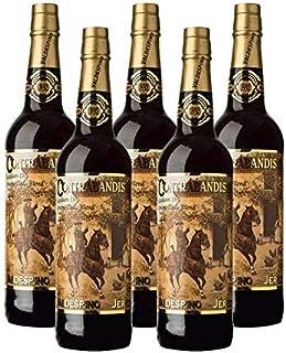 Vino Amontillado Contrabandista de 75 cl - D.O. Jerez - Bodegas Grupo Estevez (Pack de 5 botellas)