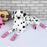 BXGZXYQ Zapatos para Perros, Transpirables, Cómodos, Zapatos para Caminar, con Fondo Suave, Artículos para Mascotas, Zapatos (Color : Rosado, Size : L)