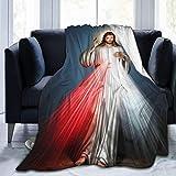 yeeatz YCKNJYSG Divine Misericordia Manta de forro polar acogedora para sofá cama, 152 x 152 cm