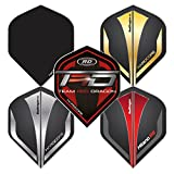 RED DRAGON Hardcore Assorted Selection Pack Extra Thick Standard Dart Flights - 5 Sets Per Pack (15 Dart Flights in Total)