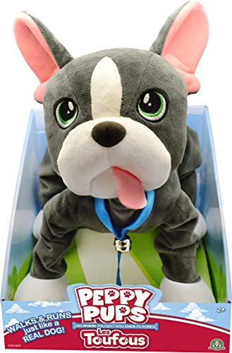 Muñeco de felpa bulldog francés gris