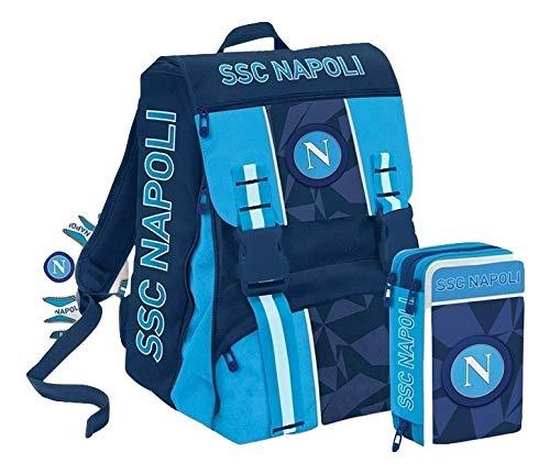 ssc napoli Napoli Sprint Set de útiles Escolares 41 Centimeters Azul (Dresden Blue)