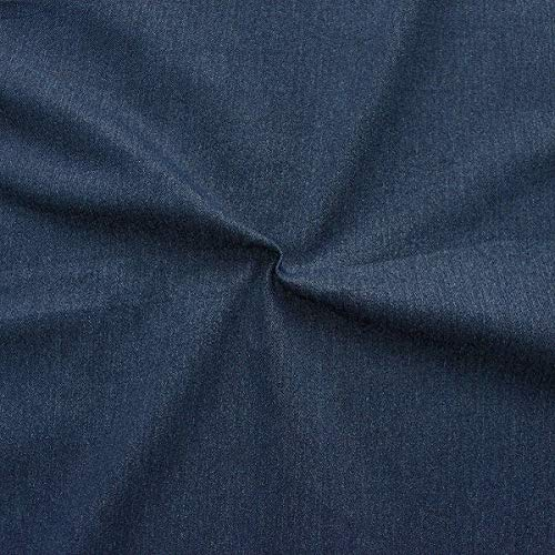 STOFFKONTOR Stretch Jeans Stoff Washed Denim Meterware Indigo-Blau