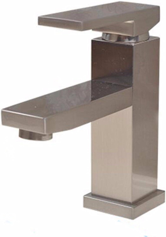 SJQKA-Washbasin faucet, basin bathroom faucet, basin faucet copper wire drawing, hot and cold water basin