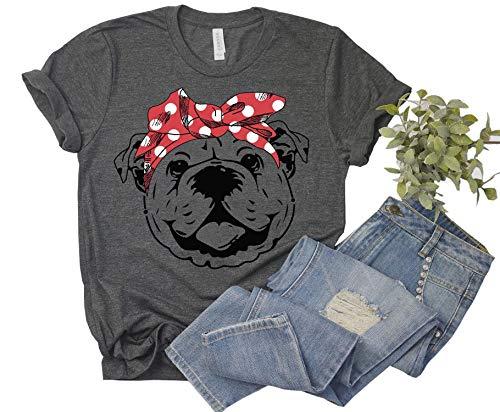 fexgaoo vrouwen schattige grappige Bulldog Print grafische T shirt Tees voor hond liefhebbers Moeder Gift