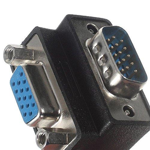 『VGAオス-VGAメス 変換アダプター L字型 D-sub15ピン オス・メス』の3枚目の画像