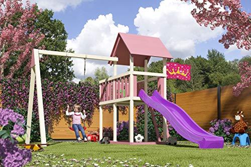 AKUBI Spielturm Lotti, Fichtenholz 18 mm, naturbelassen, mit Sparset-Optionen Sparset Farbe