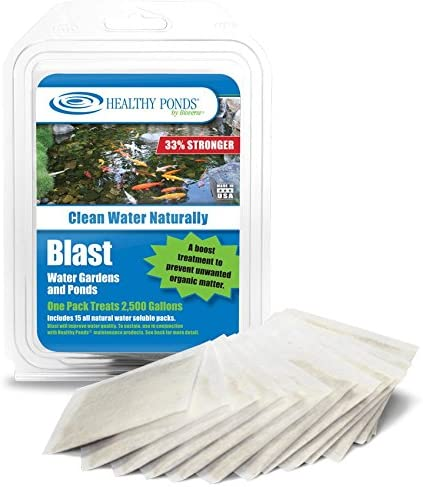 Healthy Ponds Blast Pond Water Cleaner 15 Water Soluble Packets Each Packet Treats up to 2 500 product image