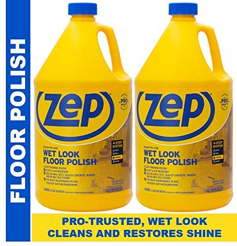 Zep Wet-Look Floor Polish 128 Ounces ZUWLFF1282 (Pack of 2) Long Lasting Shine