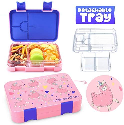 UnicornFun Bento box 6 Compartment Bento-Style Kids...