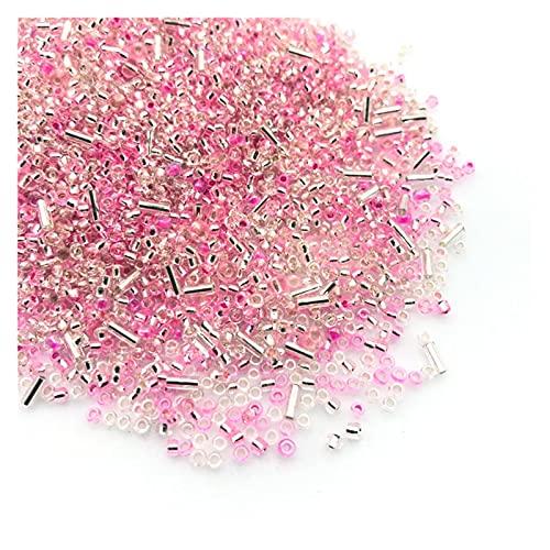 TFGUOqun Cuentas Sueltas, Cuentas de Semillas de Vidrio de Color Mezclado de 2-3 mm creación de Joyas del Collar de Bricolaje de Bricolaje para Hacer Joyas DIY (Color : D)