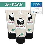 Wundsalbe Panda Balm Hand-Creme Wundpflege Lippenbalsam natürliche Hautpflege vegan Balsam 3 x 50 ml