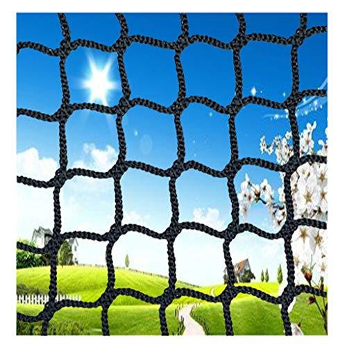 Sicherheitsnetz für Kinder, Gartenzaun Schutznetz Fußball Golf Treppen Balkon Stadion Skipiste Sicherheitsnetz Schwarz Kindergarten Dekoration Aussen Yard Stadion Sport-Schutznetz Schwarz