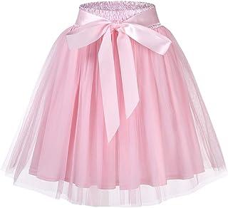 GlorySunshine Women's 50s Petticoat Skirt Tutu Tulle Skirt Crinoline Underskirt Summer Casual Skirts