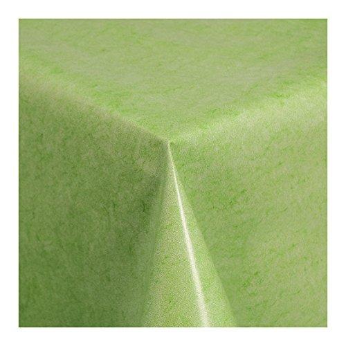 WACHSTUCH Tischdecken Wachstischdecke Gartentischdecke, Abwaschbar Meterware, Uni Grün Grün Melliert (225-04) 100cm x 140cm