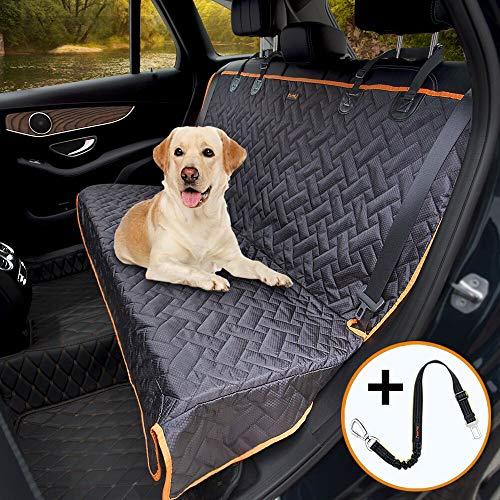 iBuddy Hundedecke für Auto Rücksitz, wasserdichtes Autoschondecke Kratzfest rutschfest Abriebfest mit Sicherheitsgurt, Rücksitzbezüge für Auto/Van/SUV