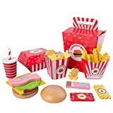 Tomaibaby 1 Set aus Spielzeug für Kinder, schnelles Wiederherstellen, aus Holz, bunt, Spielzeug für Hamburger Sandwich Hotdog