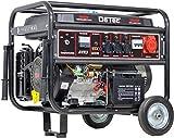DeTec. benzinbetriebener Stromerzeuger zur Notstromversorgung | 5,5 kW max. Leistung | 3 Phasen | 230V + 400V