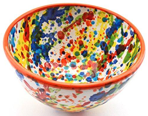 Gall/&Zick Saladier en c/éramique Peinte /à la Main Multicolore Rouge Grand mod/èle