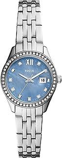 FOSSIL Womens Analog Quartz Uhr mit Stainless Steel Armband ES5074