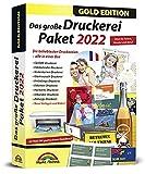 Das große Druckerei Paket 2022 - Einladungen, Glückwunsch Karten, Etiketten, CD-DVD Labels, Visitenkarten für Windows 10, 8.1, 7