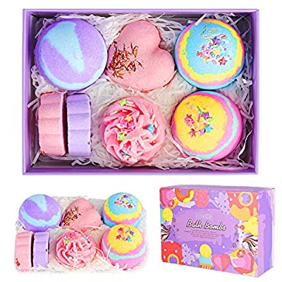Bath Bombs Gift Set, LiveGo 7 Pcs Handmade Bath...