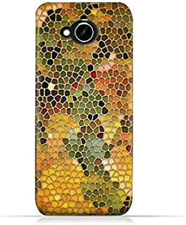 HTC Desire 10 Compact TPU Silicone Protective Case with Stained Glass Art Design