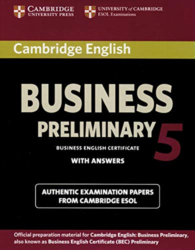 Cambridge English Business Preliminary 5: Preliminary Student\'s Book with answers