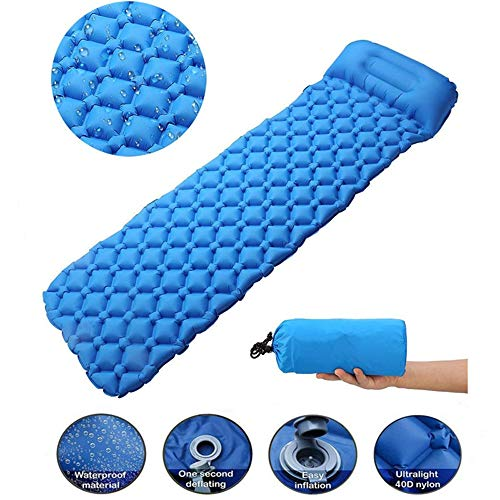 Camping Mat Outdoor opblaasbare slaapmat luchtkussen met Pillow Air Matras Bank voor Backpacken camping wandelen,A