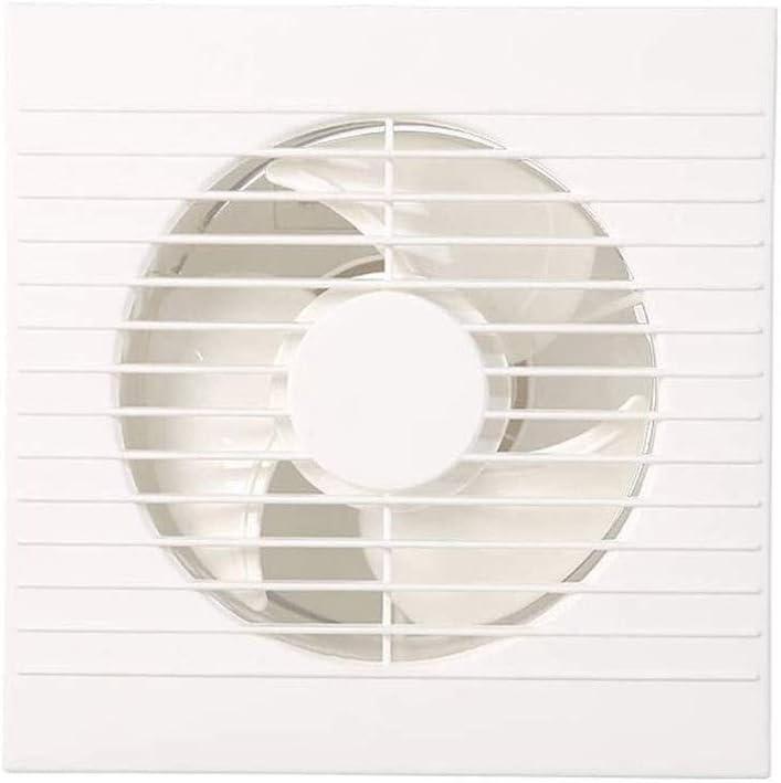 Ventiladores Extractor de Aire Montado en la pared ventilador, baño extractor de humos de escape cocina de gran alcance, de alta potencia baja tipo de pared rejilla ruido del ventilador de escape, con