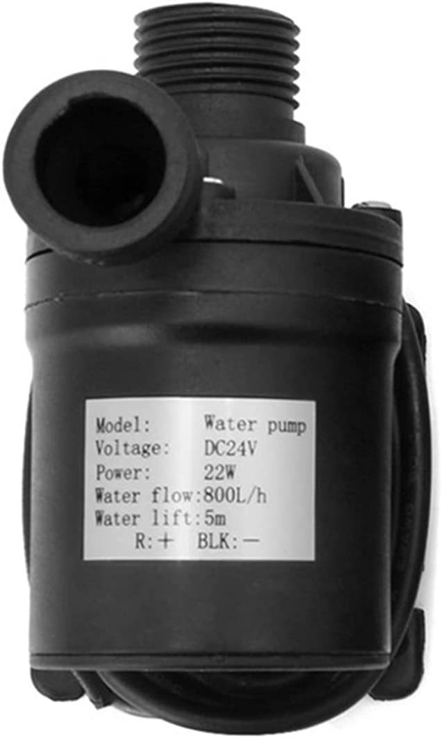 80 0L / H 12V 24V Bomba de agua de circulación de agua sin escobillas solar de 19W 5m CORRIENTE CONTINUA Bomba de agua de acuario MUTE MUJERO DE AGUA SUMPRESIBLE (Voltage : Voltage 24 volts)