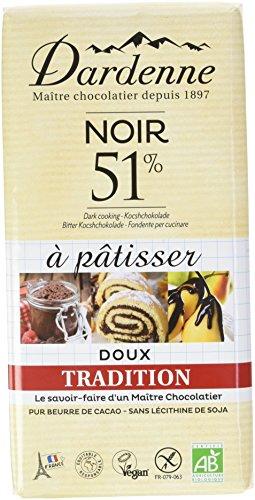 DARDENNE Tablette Chocolat Noir 51% à Pâtisser Tradition 200 g - Lot de 5