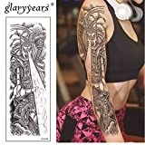 HXMAN 3 Unids Gran Brazo Temporal Tatuaje Pegatina Hombre Y Perro Falso Tatoo Manga Flash Tatto Impermeable Gran Cuerpo Arte Hombres Mujeres Mujeres AAA-001