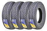Set of 4 New Premium Trailer Tires ST 205/75R15 8PR/Load Range D w/Scuff Guard -  Grand Ride