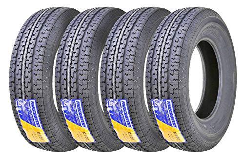 Set of 4 New Premium Trailer Tires ST 205/75R15 8PR/Load Range D w/Scuff Guard