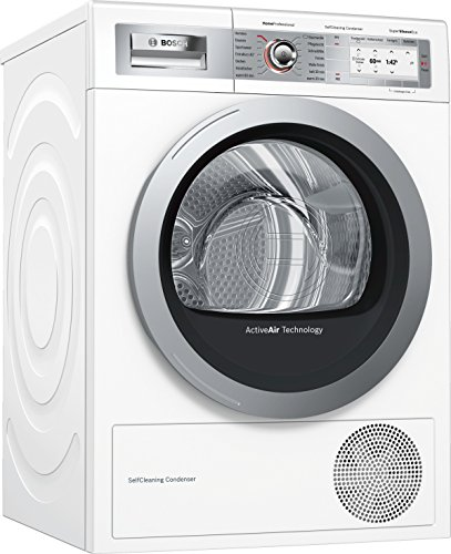 Bosch WTY887W6 HomeProfessional Wärmepumpen-Trockner / A+++ / 194 kWh/Jahr / 9 kg / weiß mit Glastür / AutoDry / SelfCleaning Condenser / SensitiveDrying System