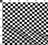 Schwarz Und Weiß, Kariert, Schachbrett, Rennen Stoffe -