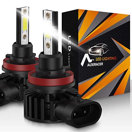 AUXIRACER Automotive Lighting H11 H8 H9 H16 LED Lampadine per Fari 12000LM 6500K 60W Led Lampadine Auto LED, Fari e Fendinebbia IP65 Impermeabili,2 pezzi