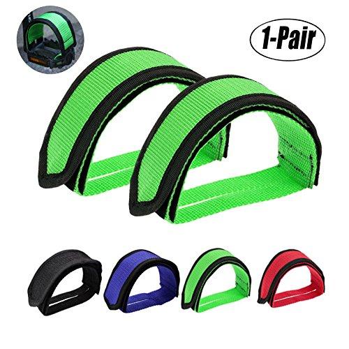 Fansport Pedal Straps, Pedal Gurt Fahrrad Pedale Straps Bike Pedal Riemen Fahrrad Strap Bike Pedal Straps Fahrrad Pedalriemen Pedal Straps Schwarz für Heimtrainer (Green)