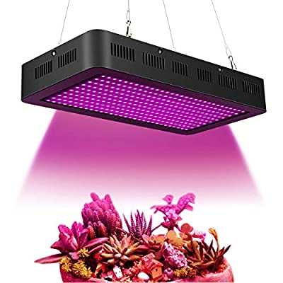 Full Spectrum LED Grow Light 380~850nm with UV IR for Indoor Herbs and Plants Growth and Flowering