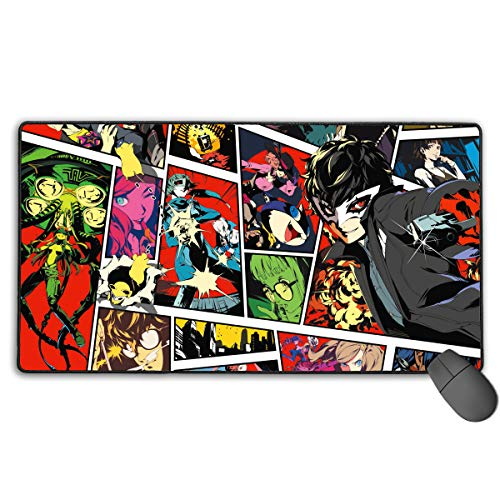 Persona 5 Non-Slip Mouse Pad Rectangle Rubber Gaming Mouse Pad Anime Mouse Pad 30x15.7 Inch(75x40 cm)