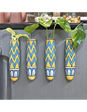 Lazy Gardener Magnetic Hydroponic Planter with Cleaning Brush   Unique Ceramic Fridge Magnet - Handmade, Handpainted