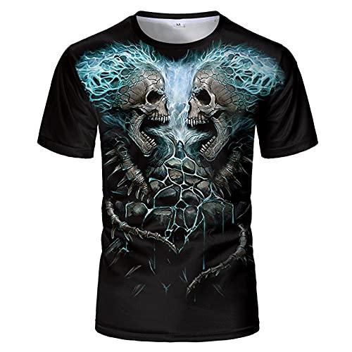 UBUB Skeleton T-Shirts Männer/Frauen Skeleton 3D-Print T-Shirt Mode Lässig Harajuku Style T-Shirt Streetwear Plus Size Tops
