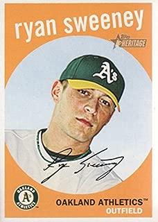 2008 Topps Heritage Baseball #512 Ryan Sweeney Oakland Athletics