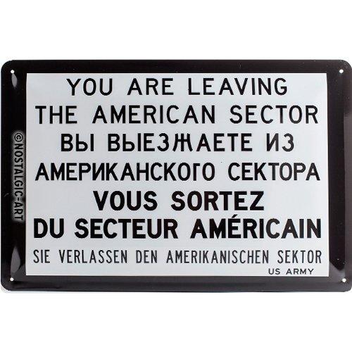 Nostalgic Art You Are Leaving – Geschenk-Idee Berlin-Fans Blechschild 20x30 cm, aus Metall, Bunt, 20 x 30 cm