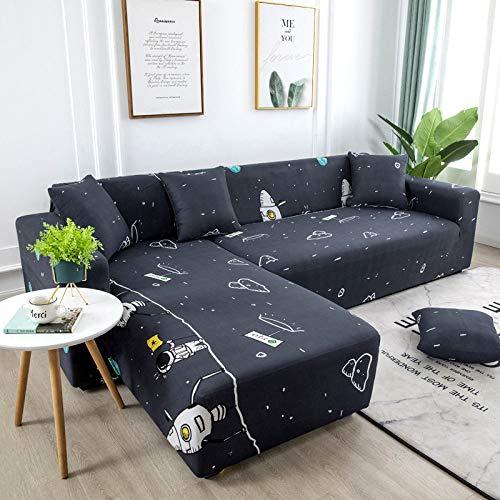 HUITAILANG Elastisch Sofabezug Bedruckte Elastische Waschbare Couchbezug 1-Teilig, Sessel Loveseat Universal Möbelschutz, Vier Jahreszeiten Universal, Wohnzimmer Dekor, Raum, Klein